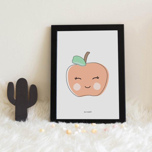 lamina personalizada infantil MrMint manzana