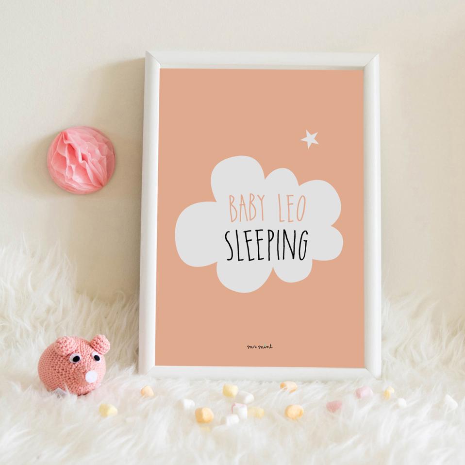 lamina personalizada infantil MrMint nube sleeping