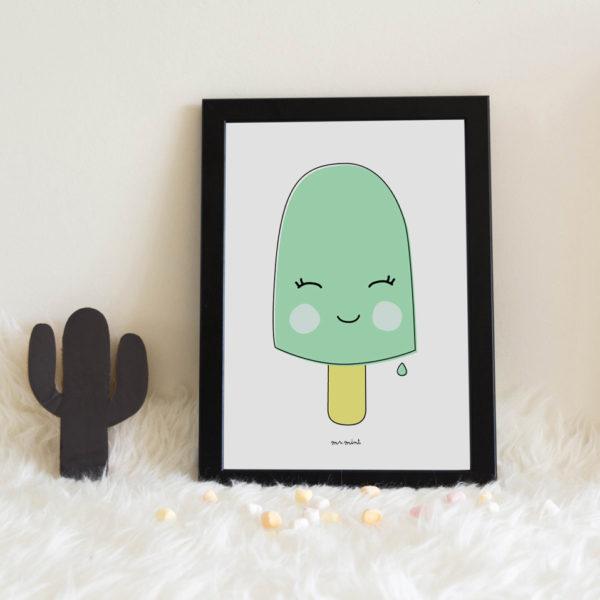 lamina personalizada infantil MrMint helado