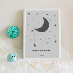 lamina personalizada infantil MrMint luna