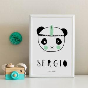 lamina personalizada infantil MrMint panda mint