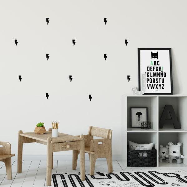 vinilos rayos MrMint infantil habitacion ninos