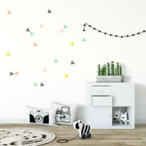 vinilos triangulos MrMint infantil habitacion ninos