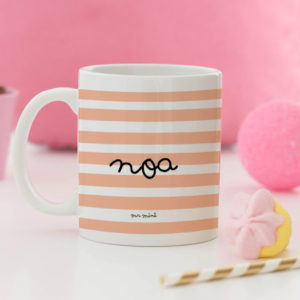 regalo taza personalizada Mrmint rayas