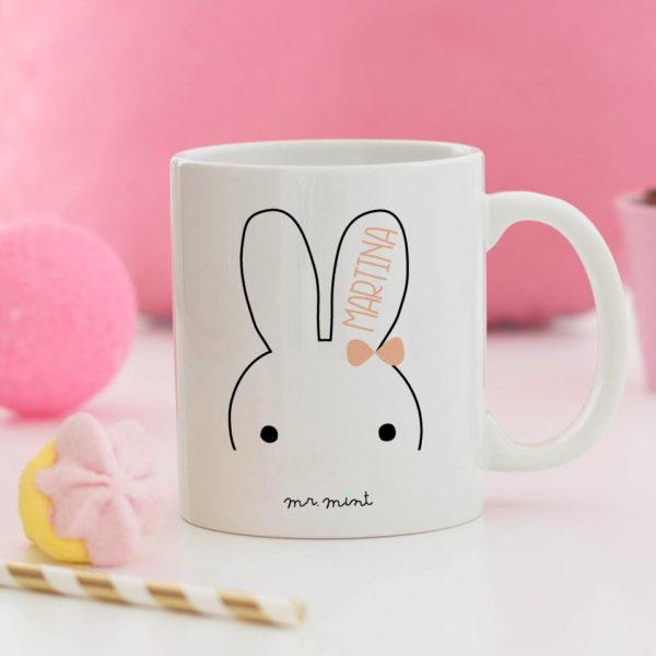 regalo taza personalizada Mrmint conejita