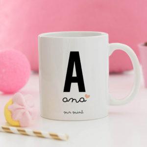 regalo taza personalizada Mrmint inicial