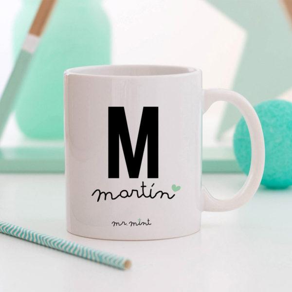 regalo taza personalizada Mrmint nombre inicial