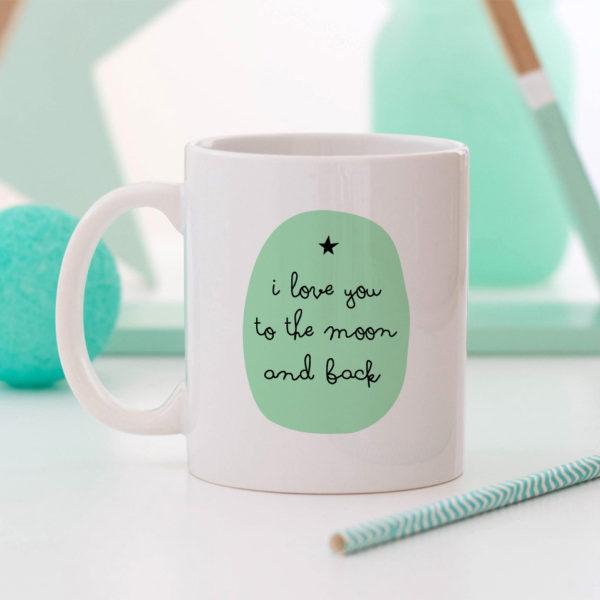 regalo taza personalizada Mrmint luna