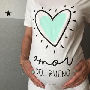 camiseta futura mama personalizada