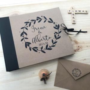 puntos libro boda kraft personalizado Mrmint