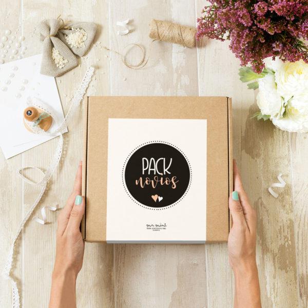 pack novios sello boda personalizado Mrmint