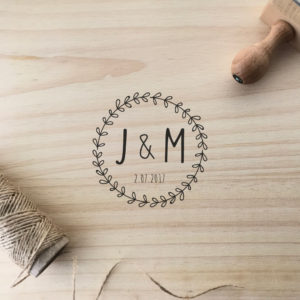 sello personalizado MrMint boda manual