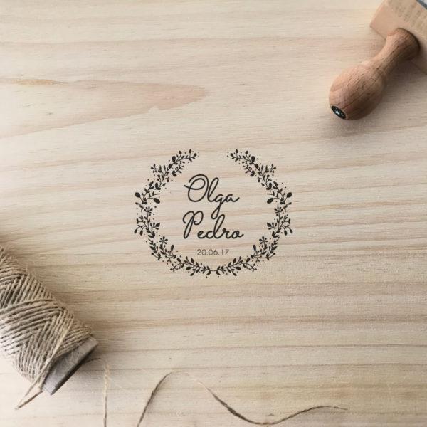 sello personalizado MrMint boda manual