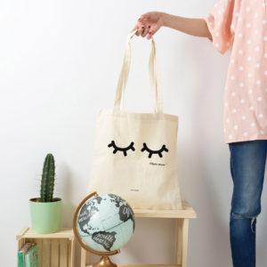 bolsa mama pestanas algodon personalizada