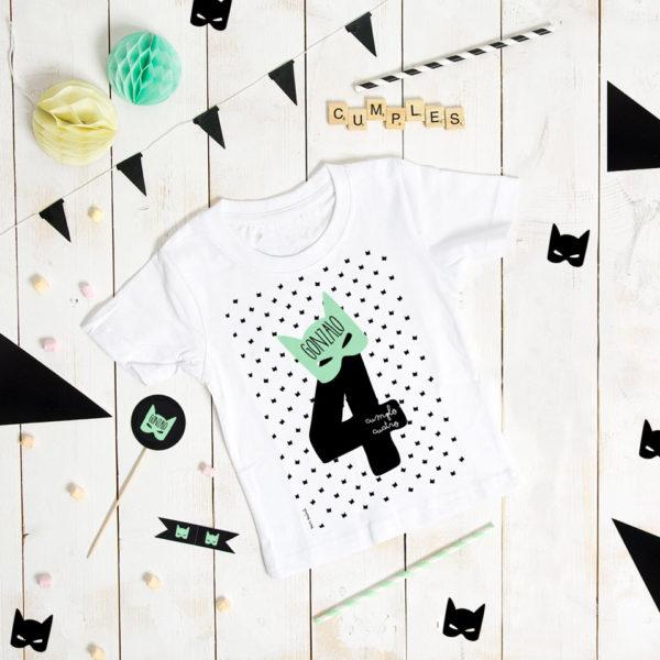 camiseta cumpleanos personalizada batman