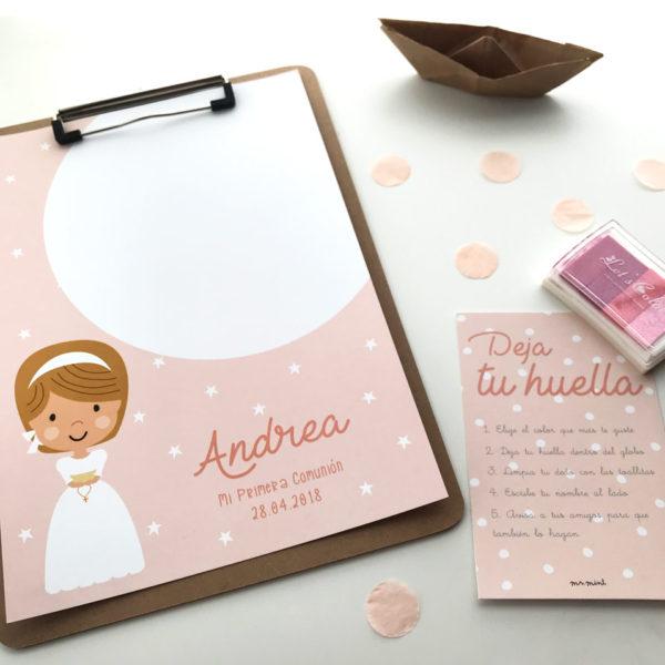 laminas personalizadas huellas primera comunion
