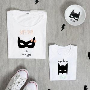 camiseta madre hijo personalizada batman