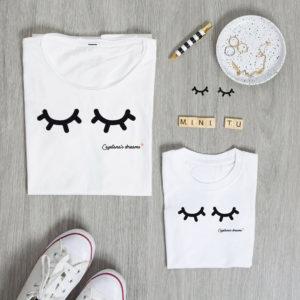 camiseta personalizada pestanas madre hija