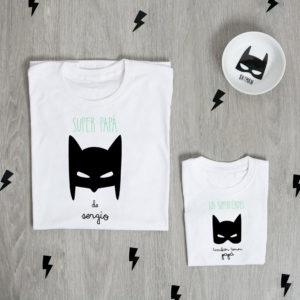 camiseta padre hijo personalizada batman