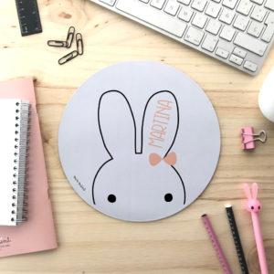 alfombrilla escritorio personalizada mrmint conejito