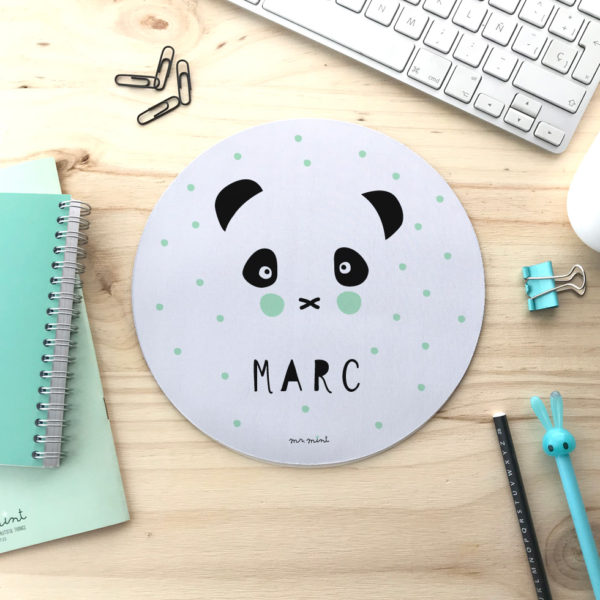alfombrilla escritorio personalizada mrmint panda
