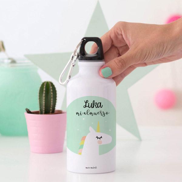 regalo bote personalizado Mrmint unicornio