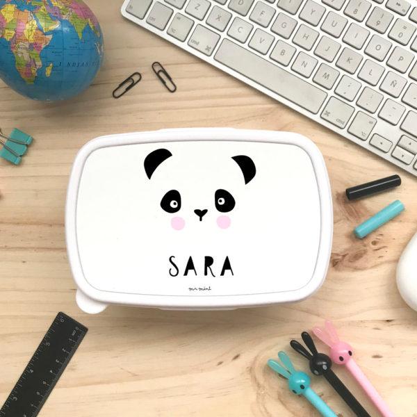 tupper cole personalizado panda coral