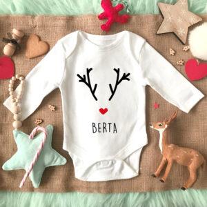 Body bebe Reno Navidad Personalizado Mrmint