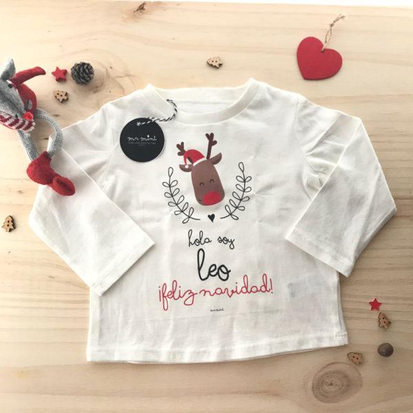 camiseta feliz navidad personalizada