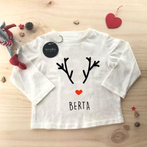 camiseta feliz navidad personalizada reno