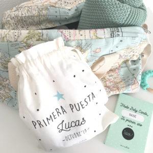 bolsa primera puesta personalizada