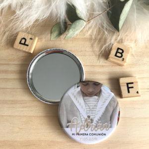 chapas espejos abridores personalizados comunión