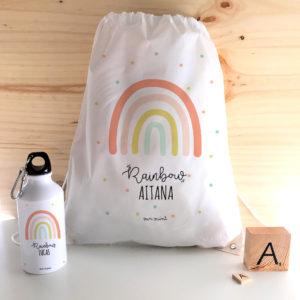 mochila arco iris personalizada