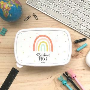 tupper personalizado arco iris