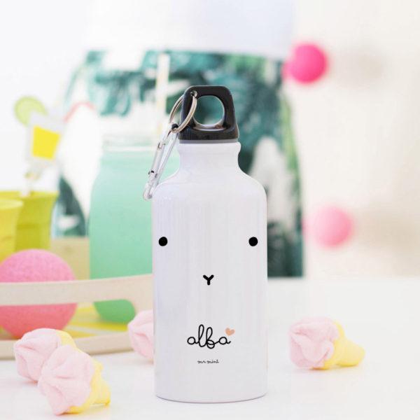 botella aluminio cat coral personalizada