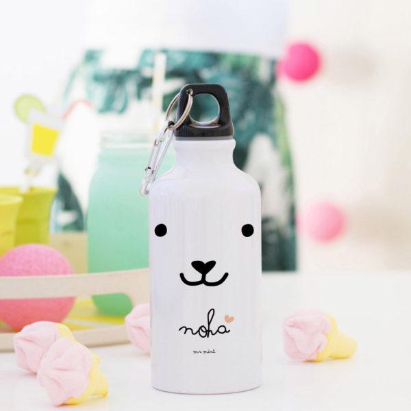botella aluminio dog coral personalizada