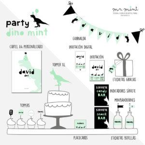 pack fiesta personalizada cumple dino