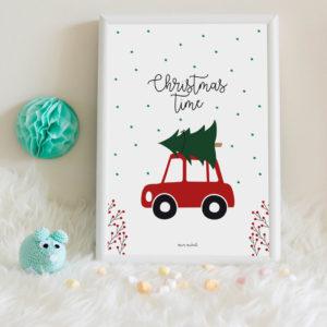 lamina Christmas Time gratis imprimible