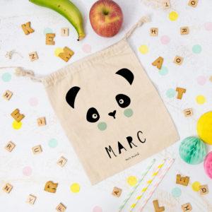 bolsa almuerzo cole personalizada panda