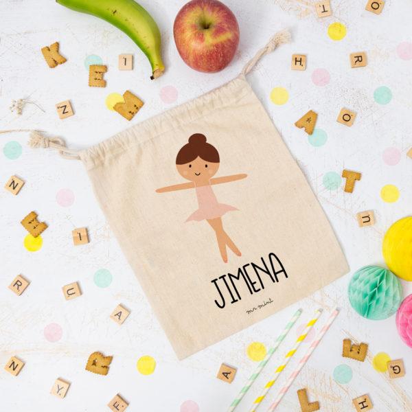 bolsa almuerzo cole personalizada bailarina