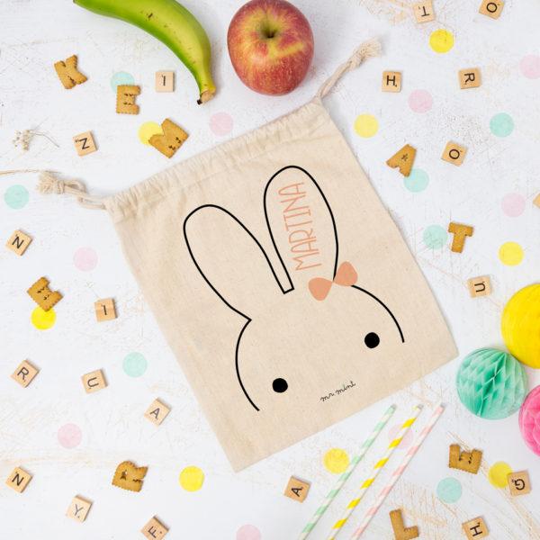 bolsa almuerzo cole personalizada conejita