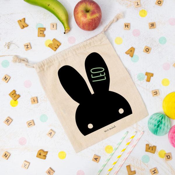 bolsa almuerzo cole personalizada conejito