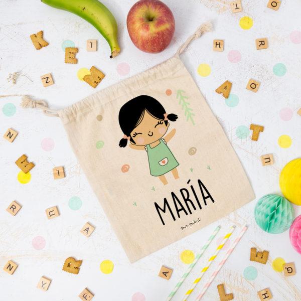 bolsa almuerzo cole personalizada niña