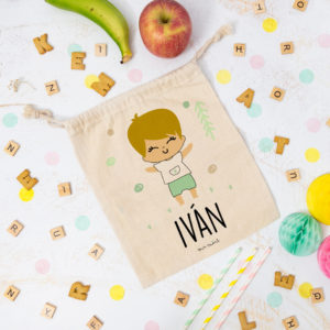bolsa almuerzo cole personalizada niño