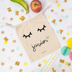 bolsa almuerzo cole personalizada pestanas