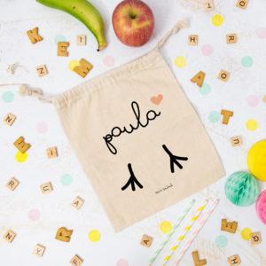 bolsa almuerzo cole personalizada pollito