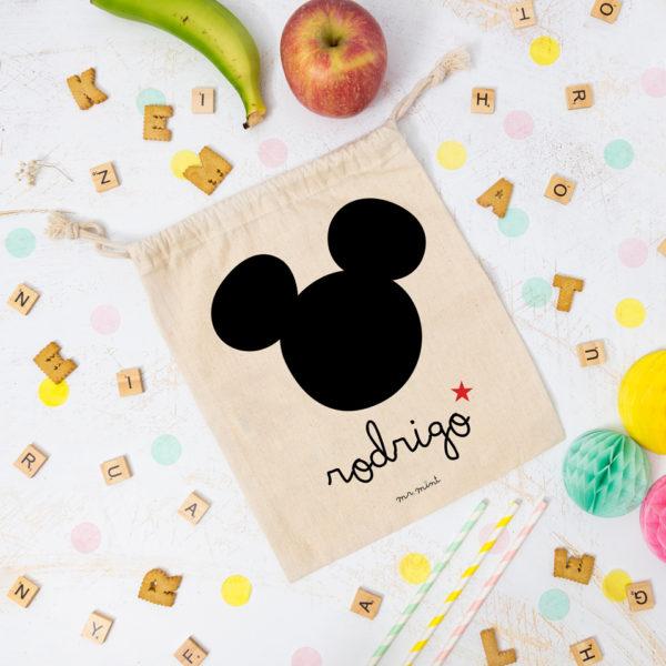 bolsa almuerzo cole personalizada ratoncito