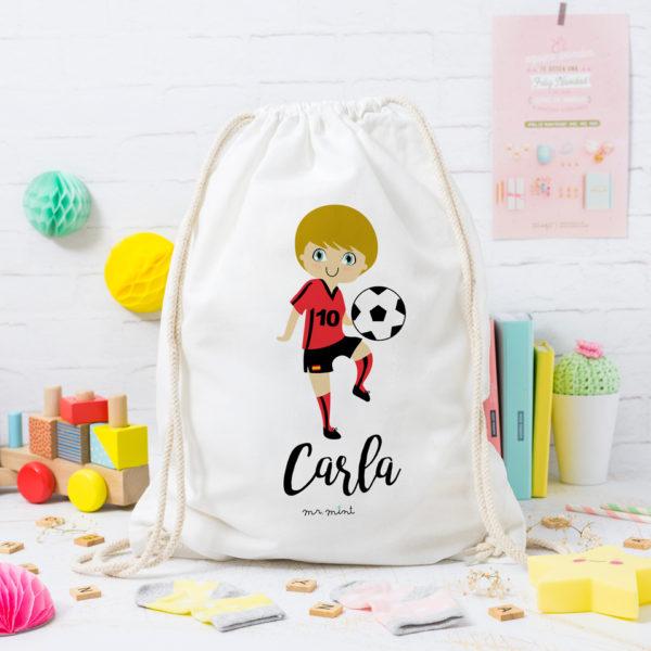 MrMint mochila personalizada futbolista