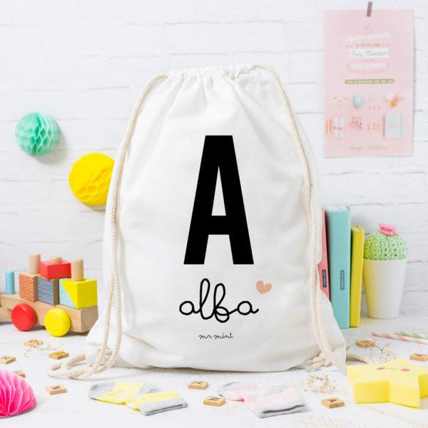 MrMint mochila personalizada inicial