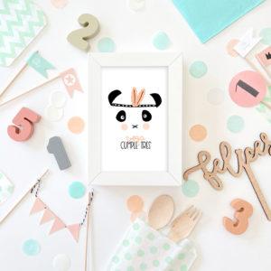 pack fiesta cumple personalizada panda